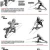 Les touches en jambe en canne de combat et bâton français