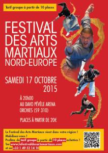 Affiche Festival des Arts Martiaux Nord-Europe CLUBS